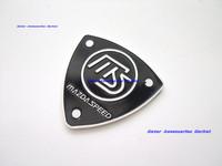 Free Shipping, 2Pcs  2X New Aluminium Metal Car Logo Emblem Badge Mazda Speed Black #A34