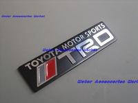 Free Shipping, 2Pcs  2X New Aluminium Metal Car Logo Emblem Badge Toyota TRD Black #53