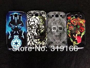 New arrival girl lipstick, brand logo,Skull Head,perfume Hard Case cover For Samsung galaxy s3  i9300  , DHL + 50pcs/lot