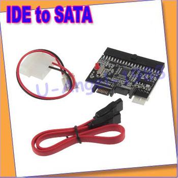 Free Shipping 5pcs/lot IDE to SATA Serial-ATA Bilateral HDD Adapter Converter security safety