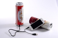 Pepsi beer coke cans small speaker cans speaker tf card cola speaker usb flash drive speaker