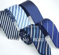 Navy blue color series Neck ties Male's Tie commercial neckties Fashion designer tie Striped Ties 6 design Top quality Men's Acc