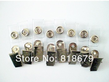 30pcs new ID BADGE HOLDER CLIP WITH Clear Vinyl strap ,freeshipping