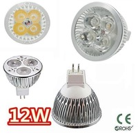 5X High power CREE MR16 4x3W 12W 12V Dimmable Light lamp Bulb LED Downlight Led Bulb Warm/Pure/Cool White free shipping