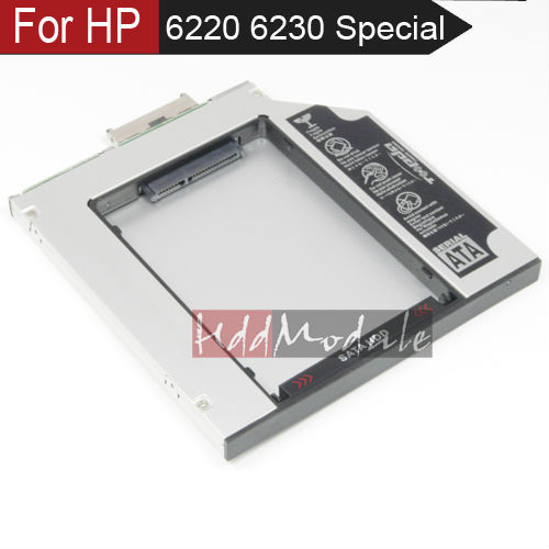 Laptop SATA 2nd HDD Caddy for HP MultiBay II nc6220 nc6230 nc6400 6910p nx8220 nc8230(China (Mainland))