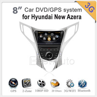 A8 1GMHZ CPU dvd gps for Hyundai New Azera New Model  4G memory, Car radio DDR2 512M 3G Car dvd player High Speed