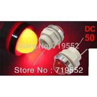 50 Pcs DC 6.3V 2 Pins 12mm Mount Hole Red Round Head LED Indicator Pilot Light