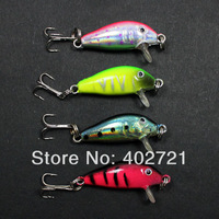 New Arrival!!! 200pcs/lots Minnow Fishing Lures Baits 35mm 1g