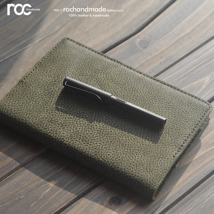 Roc a5 genuine leather ring binder office notepad handmade notebook commercial notebook(China (Mainland))