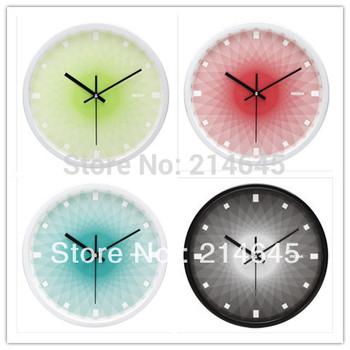 j01/Free shipping 12 inch JiGuangYiCai super mute series metal quartz wall clock