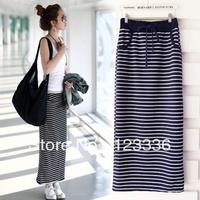 2013 summer black and white stripe female bust skirt  fashion slim hip skirt