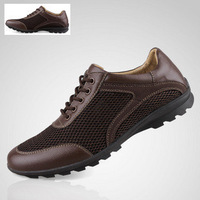 Camel male shoes leather sandals breathable gauze cotton-made shoes plus size 45 46 casual leather single shoes
