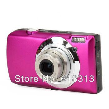 "DC-810 5.0MP Digital Camera w/ 3.0"" TFT, 5x Optical Zoom - Deep Pink"