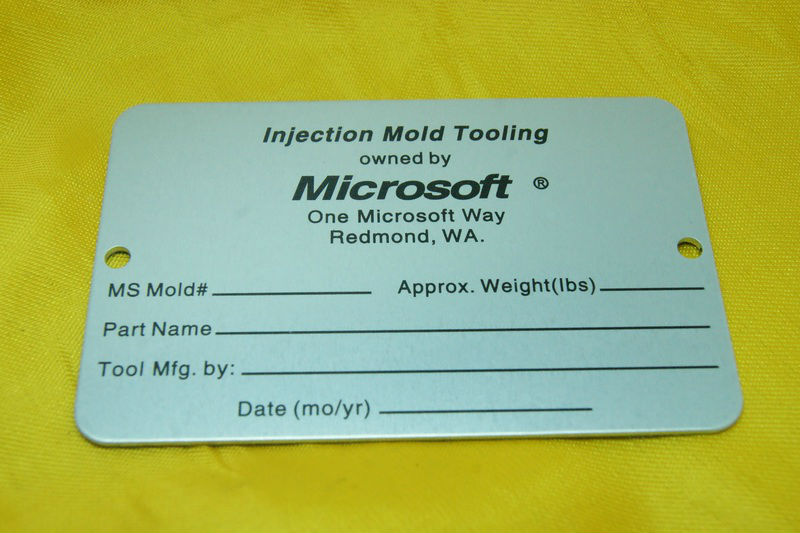 microsoft aluminum alloy nameplate Mechanical equipment nameplate Electronic product nameplate(China (Mainland))