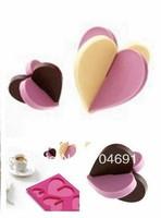 New Silicone Mold Heart Shape Chocolate Muffin Pan Bakeware Icecream Decoraitng