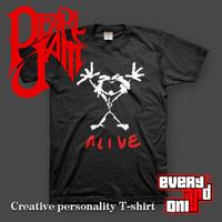 high quality Pearl jam alive alternative pop rock n roll band 100% cotton casual printed T-shirt tee dress camiseta