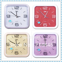 j03/Free shipping Mute fashion creative clock dazzle bright flash when sitting room wall clock