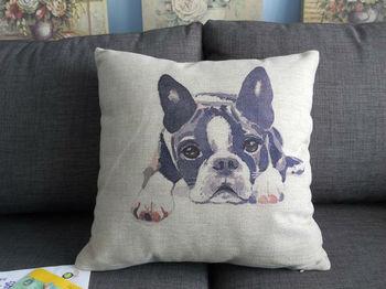 "Cute dog Cotton linen square decor throw pillow case cushion cover pillow cover cushion case 18 ""x18 """