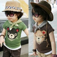 Korea Style Lovely Bear Kids Cotton Tshirt Children ClothesTT002