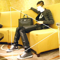 Casual fashion personality male patchwork leather pants handsome leather pants  Foreign trade tail single