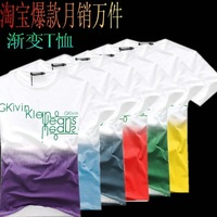 Male short-sleeve T-shirt 2013 men's clothing summer short-sleeve t shirt 100% cotton slim tee