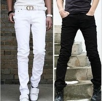 Trousers fashion cotton 100% brief white casual pants male slim long trousers  Foreign trade tail single