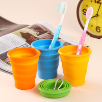 Travel folding cup telescopic cup silicone Tumbler portable travel wash cup outdoor glass