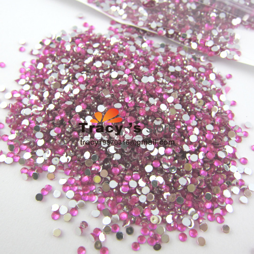 Nail Art Rhinestone 20000pcs/pack 2mm SS6 Crystal Dark PINK Glitter Clear Color Acrylic Stones Decoration Flat Back GEL Nails(China (Mainland))