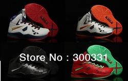 Free shipping by ems new arrival lebron X 10 kids basketball shoes,brand kids shoes 5 color size US 28~35(China (Mainland))