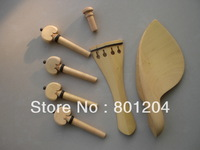 SFF010 Boxwood violin fitting with chinrest, tailpiece, pegs, endpin 4/4 size