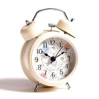 Fashion rustic paint clock vintage fashion cartoon bell doubles snooze alarm clock egg pillow