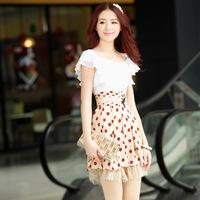 Summer women's 2013 bohemia one-piece dress plus size high waist basic beach dress