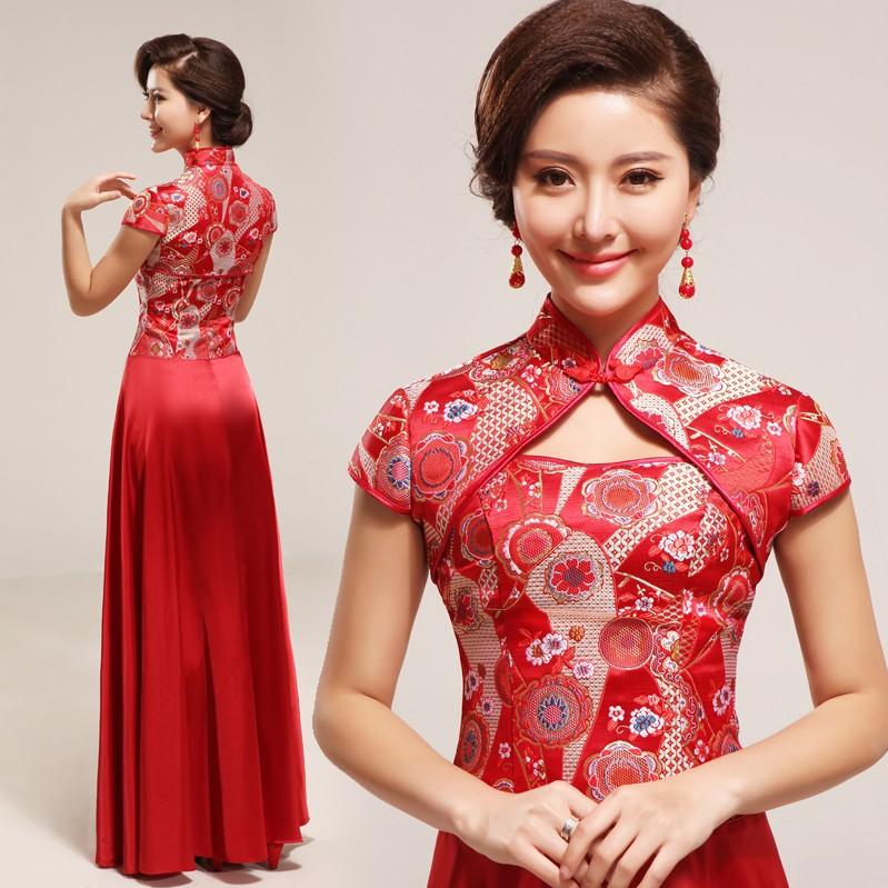 Red wedding summer bridal fashion vintage design long evening ...