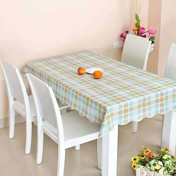 Disposable dining table cloth tablecloth square round table pvc plastic waterproof oil fancy