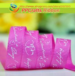 PPCrafts Ribbon 1 inch 25mm Hot pink/ Red/ Rose Color Love Day 100yards/roll for Hair Bows Making(China (Mainland))