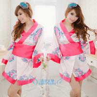 Sexy pink costume japanese style kimono sauna technicalness service ds costume bathoses  womens dresses