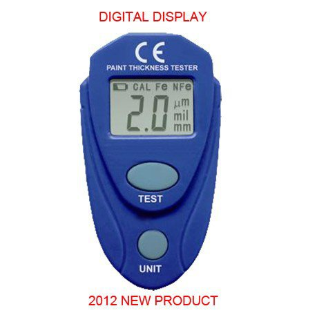 NEW PRODUCT Digital LCD Coating Thickness Gauge Car Painting Thickness Tester Paint Thickness Meter(China (Mainland))
