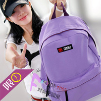 Purple candy solid color middle school students school bag women's backpack casual double-shoulder preppy style