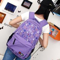 Navy style backpack fashion preppy style vintage bag school bag student backpack women's handbag