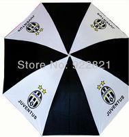 Free shipping retail football fan umbrella with juventus team logo ,football fan umbrella with Big European Clubs'  logo