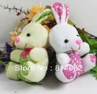 Wholesale 11CM Mini Plush Toy Doll Nice Fabric Rabbit For Wedding Decoration.cell phone accessories.Gadgetries