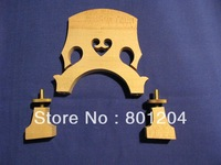2 PCs Double bass bridge cupreous parts 3/4