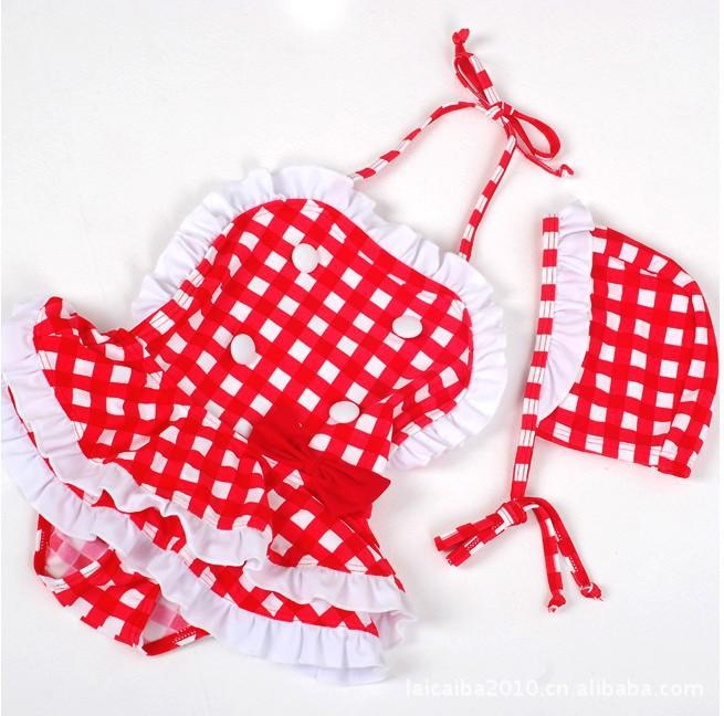 Traje De Baño Rojo Pelicula:Red and White Checkered Overalls
