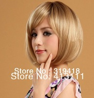 Sweet Lovely Girls' BOB Hair Styling Heat Resistant Synthetic Hair Cosplay wig for Women / ladys hot party wig