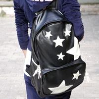 2013 pentastar PU color block bag cool unisex fashion backpack man bags women's handbag backpacks school bag Free Shipping