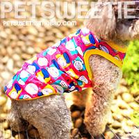 Happy smiley pet clothes dog clothes summer vest T-shirt chihuahua clothes cool summer models