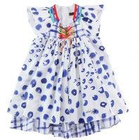 CATIMINI blue and white porcelain cuhk children dress of the girls