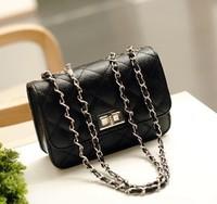Small sachet black plaid faux chain mini bag fashion one shoulder women's handbag