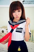 School uniform set sailor suit fashion preppystyle uniforms girls class service school wear  wholesale clothing