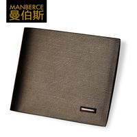 Free shipping Male short design wallet fashion cowhide men's multi card holder wallet male wallet